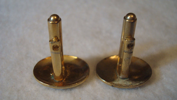 Gold Cuff Links - Vintage