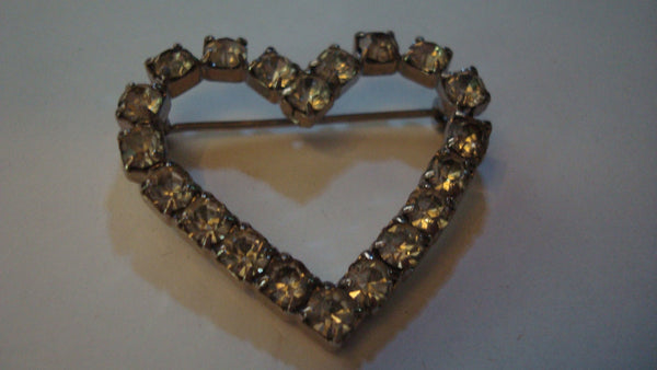 Heart Stone Brooch - Pin - Sweetheart - Love
