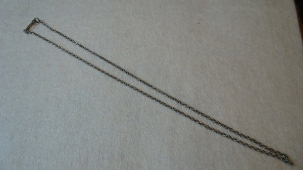Lot of TWO Silver Necklaces - No Pendants