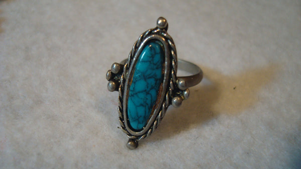 Turquoise Silver Ring -  Vintage Jewelry