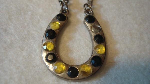 Horseshoe Lucky Necklace - Vintage Jewelry, FREE SHIPPING