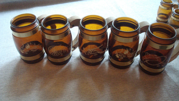 LARGE LOT of 22 BROWN Mugs - Vintage - including Oil Lamp Mug - Instant Collection