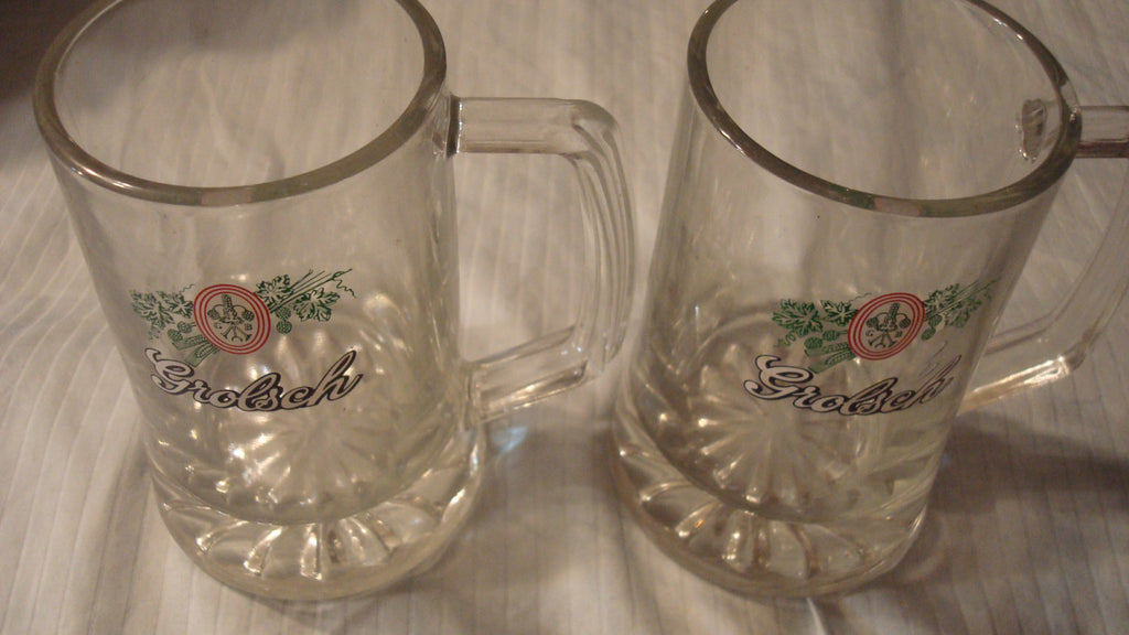 Grolsch Mugs, Vintage - Lot of TWO