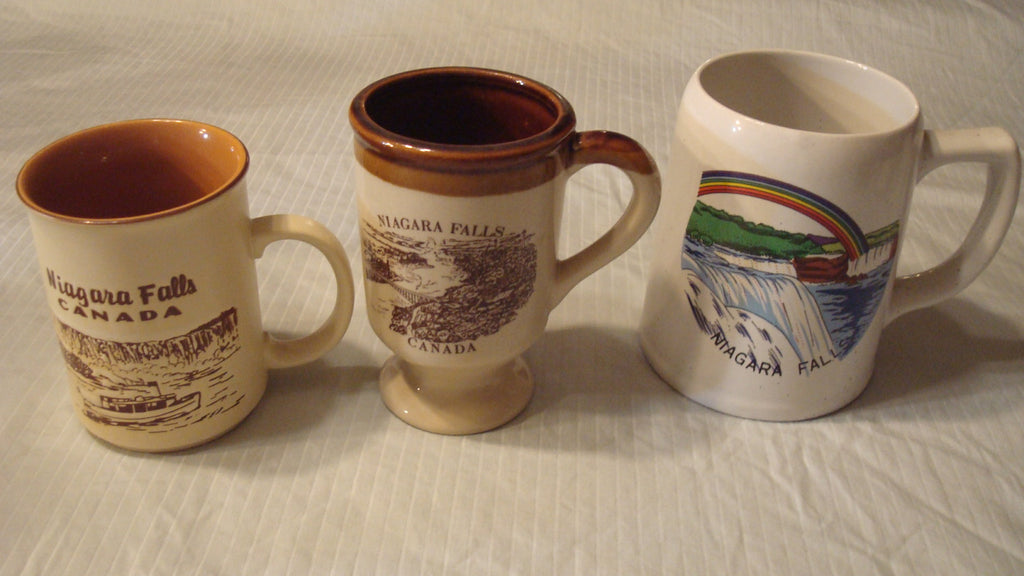 Niagara Falls, Canada, Lot of 3 Mugs, Vintage Souvineers