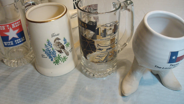 Texas, Lot of Four Mugs, Boots