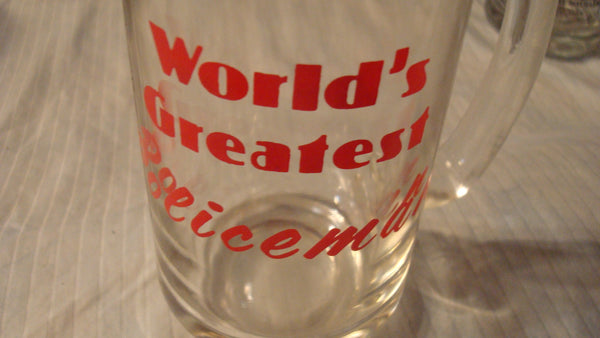 World's Greatest Policeman - Clear Vintage Mug