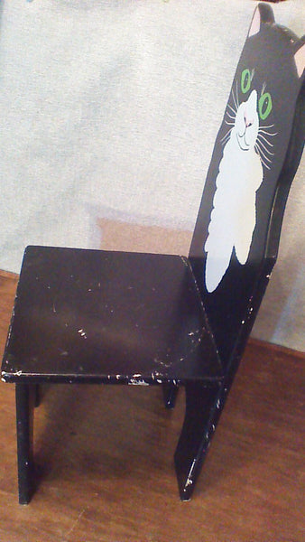 CHILDREN'S Tuxedo Cat Chair Wooden Furniture