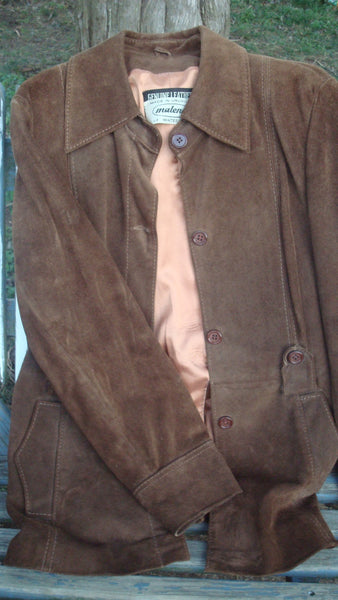 Vintage GENUINE LEATHER Brown Jacket - Vintage Clothes, Free Shipping