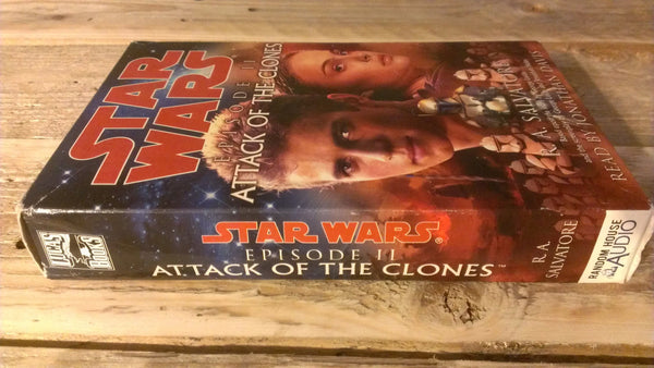 Star Wars Episode II Attack of the Clones, R.A. Salvatore  Audiobooks on Cassette Tapes, FREE SHIPPING