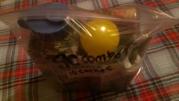 GEOCACHE Combo Pack 10 caches - Geocaching Gift Box, FREE SHIPPING!