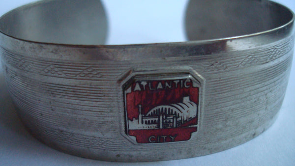 Atlantic City Souvenir Bangle Bracelet, Vintage Jewelry
