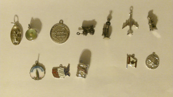 12 Sterling Silver Pendants - YOUR CHOICE, for Bracelet or Necklace