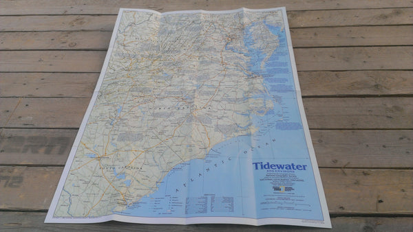 Tidewater and Environs Map, June 1988, National Geographic