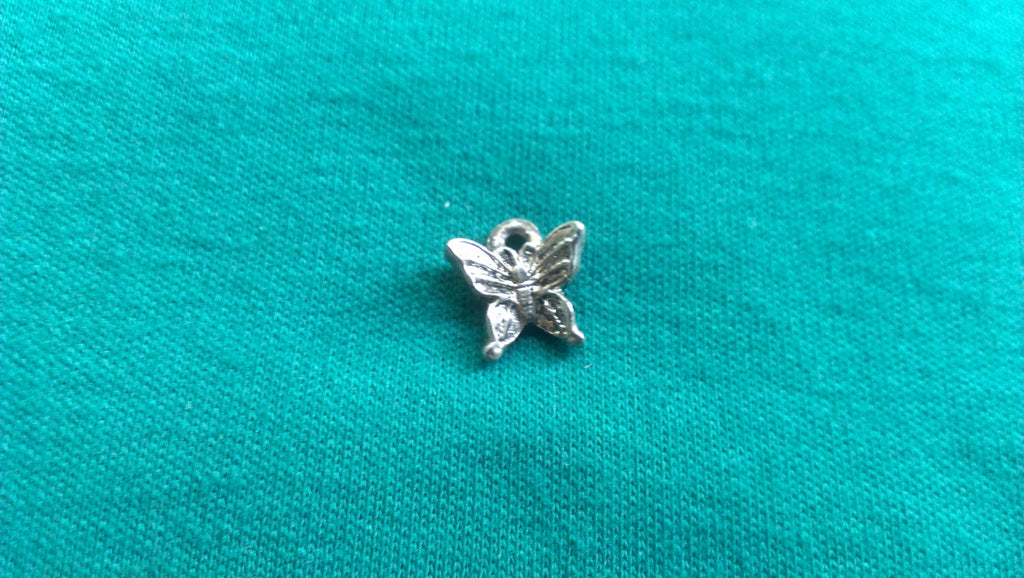 Silver Butterfly Charm Pendant for Necklace