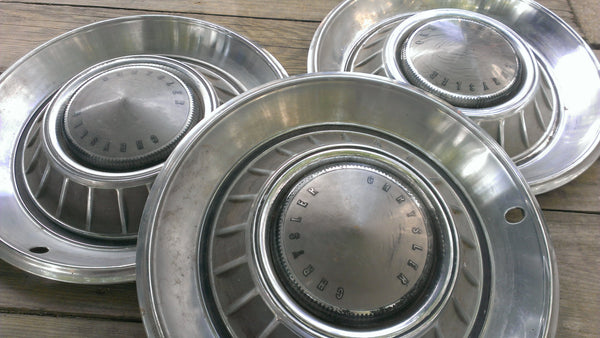 3 CHRYSLER 60-70s Hubcaps, Vintage Vehicles Parts, Rare Original Parts, Accessories, Rims, Wheels, Tires, FREE Shipping