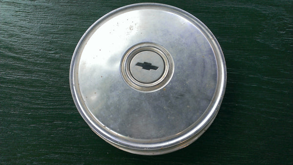 CHEVROLET 1950's Hubcap, Center Cap, Vintage Vehicles Parts, Rare Original Parts, Wheel Cover, Dog Dish, FREE Shipping