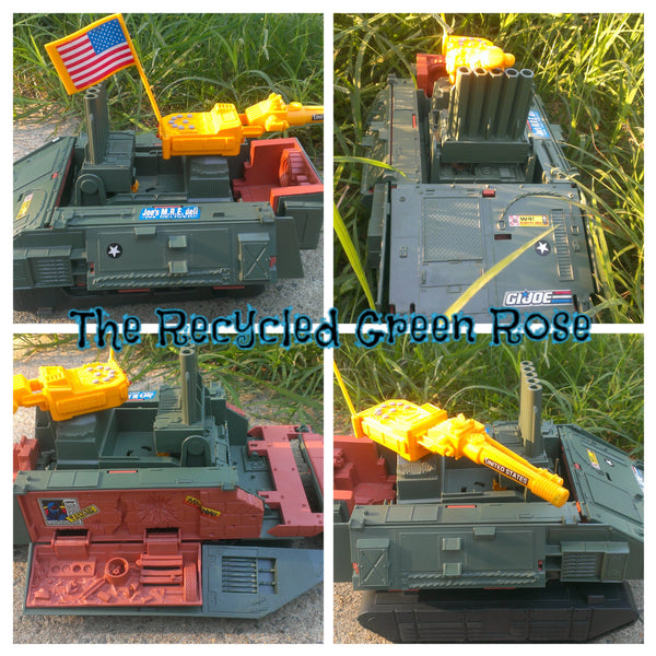 GI JOE, Fort America Sonic Fighter Battle Fortress Tank Vehicle, A Real American Hero, Hasbro, RARE
