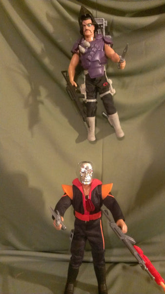 "TWO GI JOES, 12"" Destro Figure & Major Bludd Mercenary Figure , A Real American Hero, Hasbro, Free Shipping!"