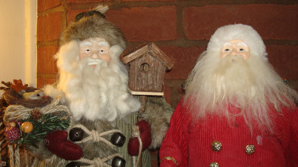 ONE SANTA LEFT!!!! Decorative Santa, Christmas Decor, Red Suit Guy, Holiday Decor, white beard, it's Christmastime!!!!