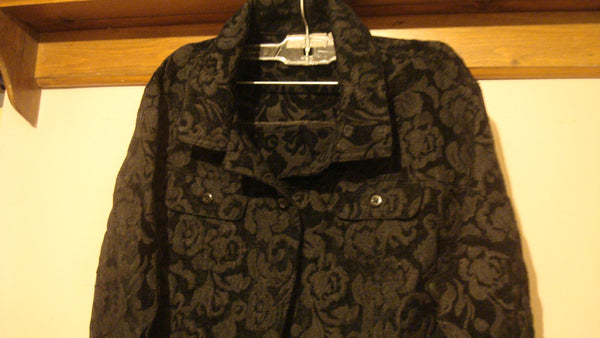 Rose Jacket - Black - Vintage - Like New