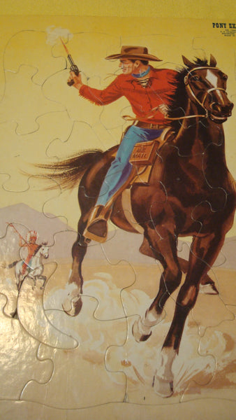 Pony Express Vintage Puzzle - 1940s FREE SHIPPING