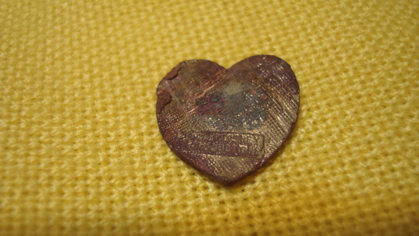 Disney, Mickey & Minnie Mouse, Smushed Flat Penny, Heart, Love, Coin FREE SHIPPING