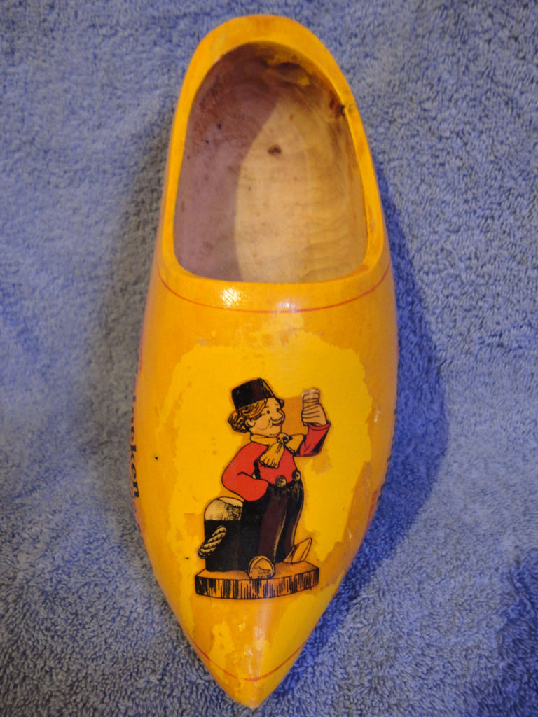 Heineken Holland Beer Imported, Wooden Clog Shoe Knickknack Display, Dutch Clog Advertisement