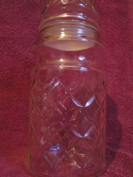 1984 Planters Peanut Glass Seal-able Container Jar with Lid