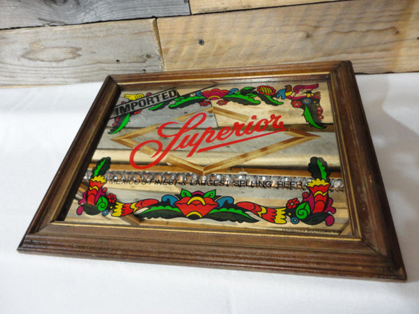 Superior Imported Beer Mirror, Beer Decor, Man Cave Decor, Wall Art, FREE Shipping!