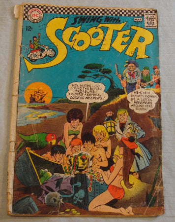 Swing with Scooter, Comic Book - DC Comics - 1967 Vintage