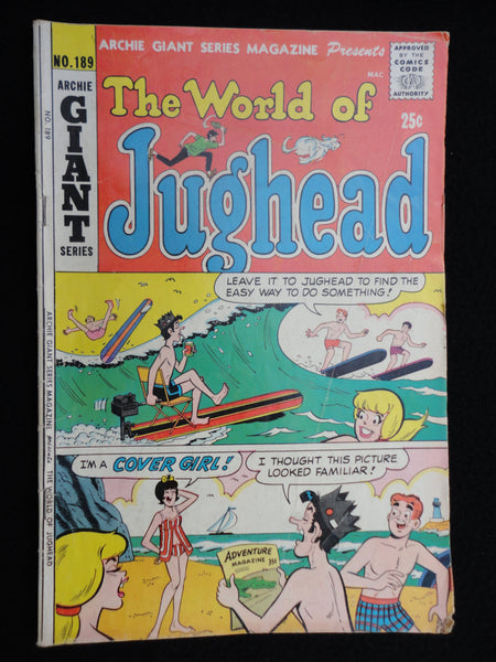 Archie Giant Series, September 1971, No 189, The World of Jughead, Bronze Age