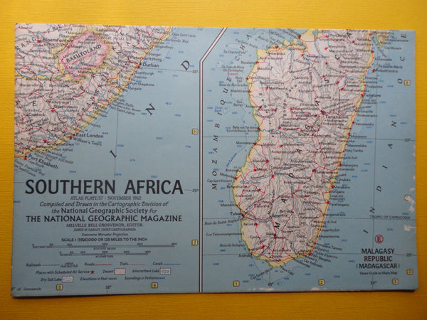 Southern AFRICA - National Geographic Map