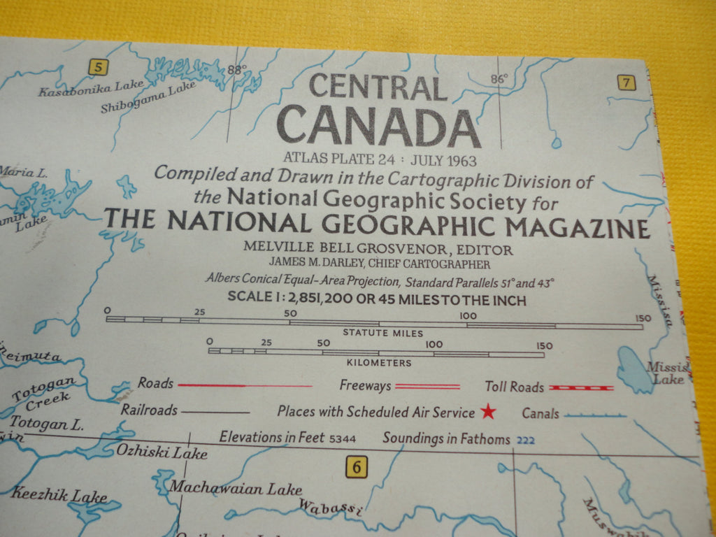 Central CANADA - National Geographic Map