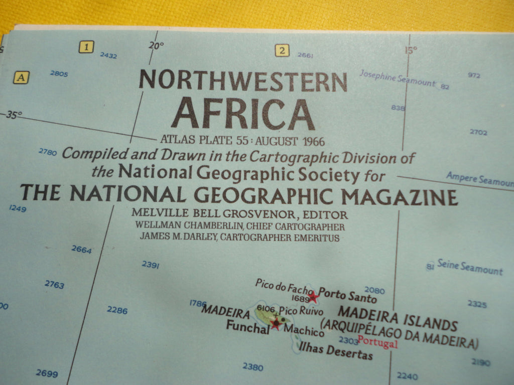 NorthWestern AFRICA - National Geographic Map