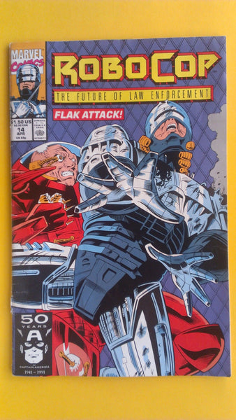 RoboCop Marvel Comic Book, Vol 4 No 1, Vintage 1991, FREE SHIPPING