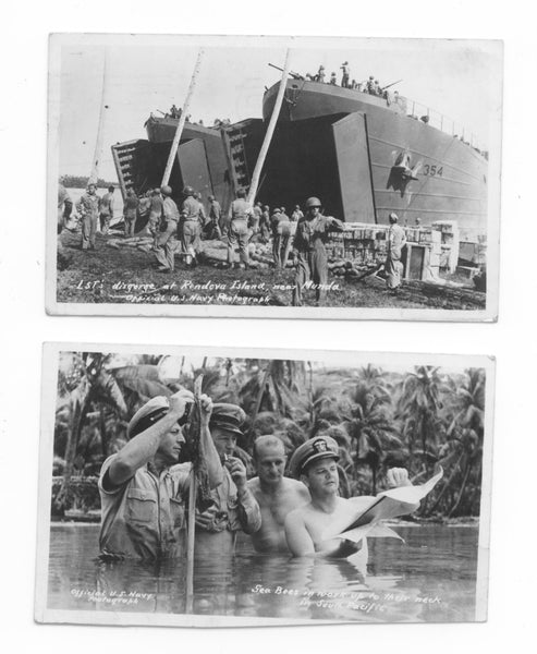 1940's Military WW1 Post Cards (2) Official US Navy Photographs, Militaria Memorabilia, FREE Shipping