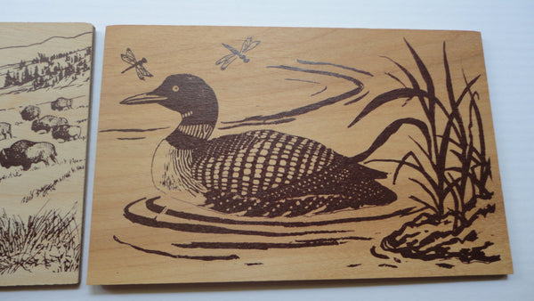Duck Wooden Postcard, ducks, Post karte - New and Used Carte Postale, Wooden