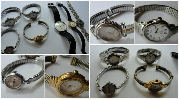 Lot of Seven Watches - Vintage Ladies Wrist watches, FREE Shipping