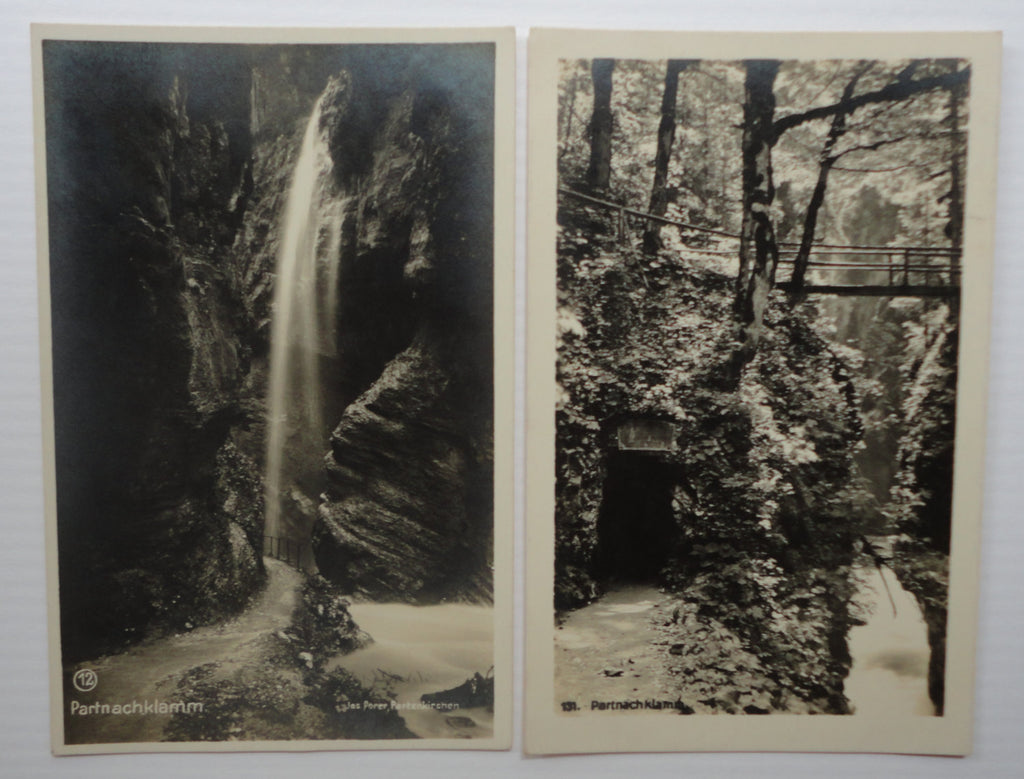 Partnachklamm, Partenkirchen, Garmisch, Germany, Lot of 2 Antique Postcards, Post Karte, FREE SHIPPING