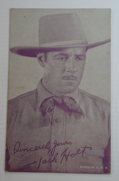 Sincerely Yours, Jack Holt, 'Signed' Photograph Postcard, FREE SHIPPING