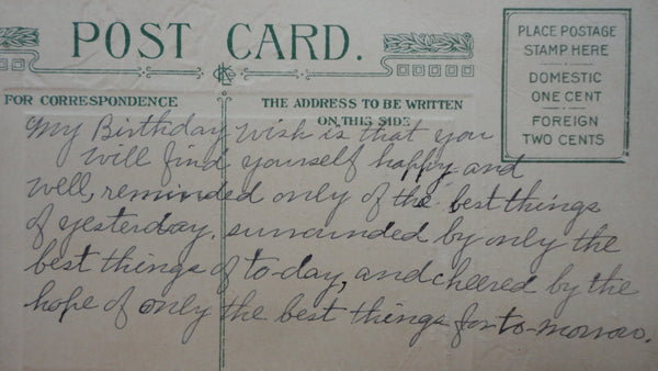 Birthday Greetings, AWESOME Antique Postcard, FREE SHIPPING