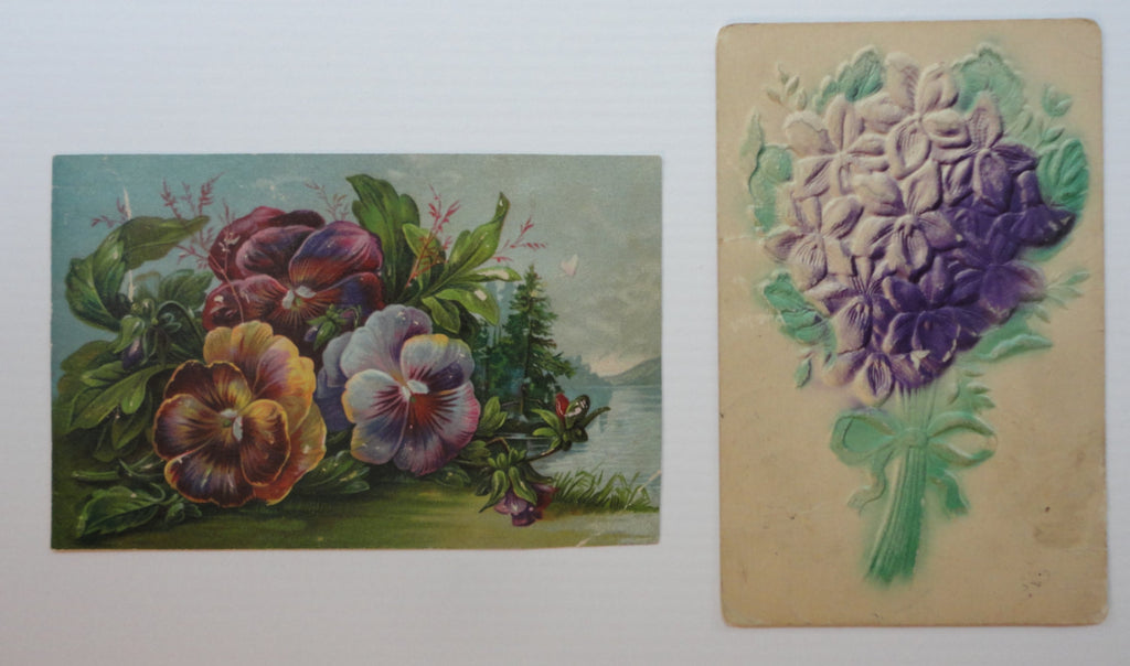 Embossed Floral Antique Postcards, NEW/USED