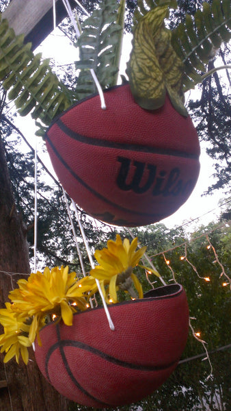 Basketball Hanging Flower Pots, FREE SHIPPING