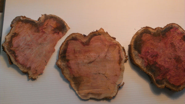 Wooden Tree Hearts - LOVE nature - wooden hearts, wood hearts, craft material assemblage, FREE Shipping