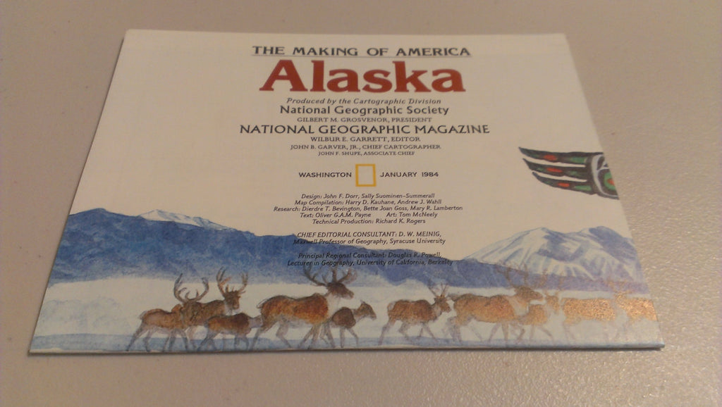 Alaska, National Geographic, April 1984, FREE SHIPPING