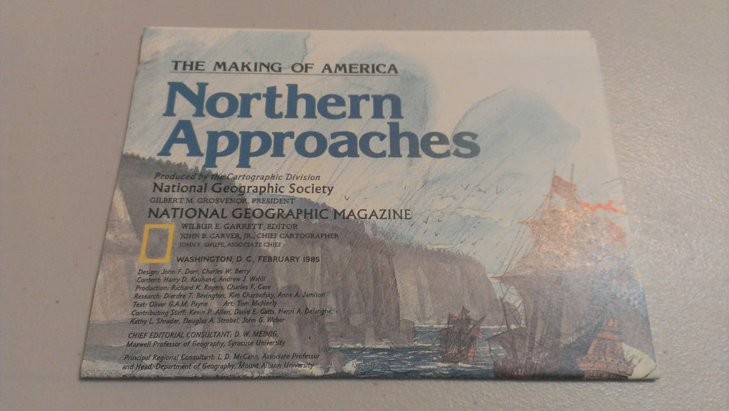 Northern Approaches, National Geographic Map, February 1985, FREE SHIPPING
