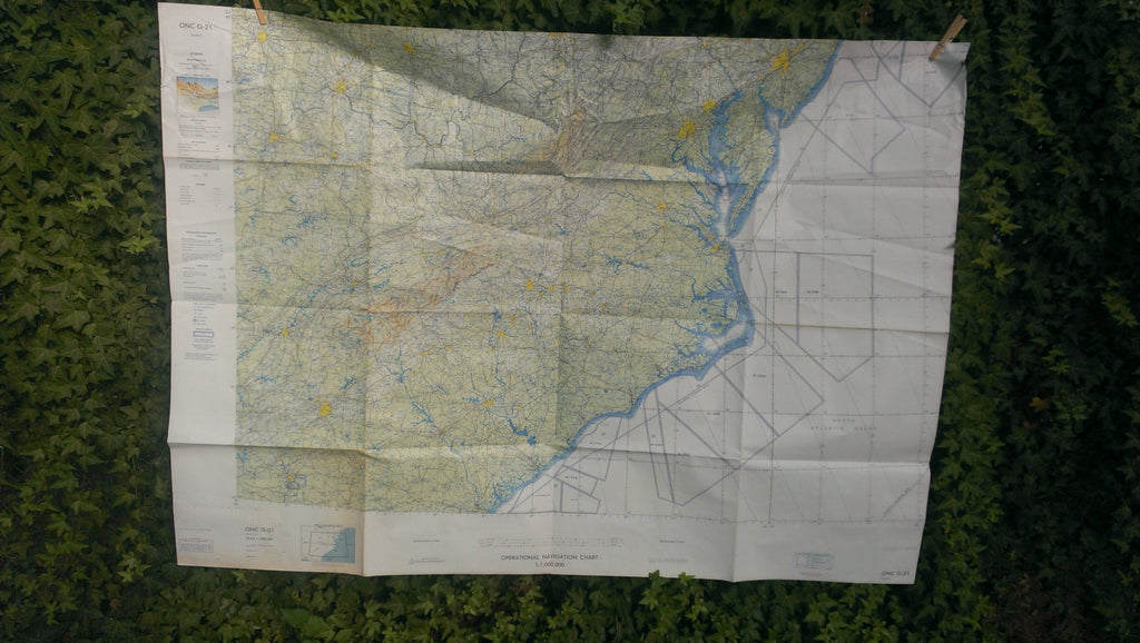 HUGE - US Military Navigation Map ONC G-21 - United States