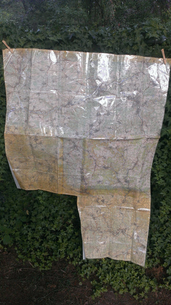 Huge MILITARY Map, Double Sided, Laminated, Very RARE Military Artwork, Vintage 1960's Vietnam War Era Maps, Free Shipping