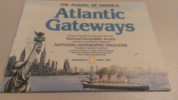 Atlantic Gateways, National Geographic, March 1983, FREE SHIPPING