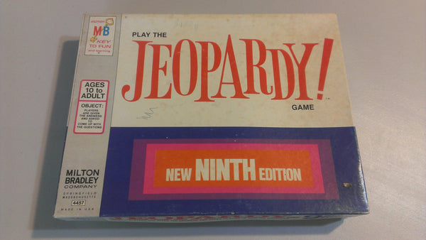 JEOPARDY 9th Edition - Vintage GameBoard - FREE SHIPPING
